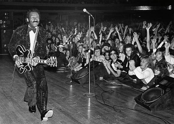 Rock Music Art Print featuring the photograph Chuck Berry In Concert At The Palladium by George Rose