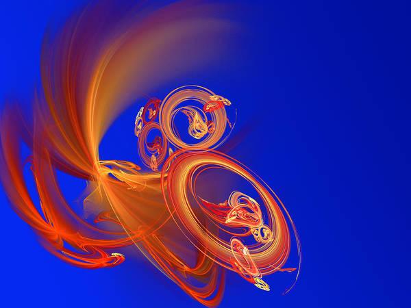 Motion Art Print featuring the digital art Frantic by Werner Hilpert