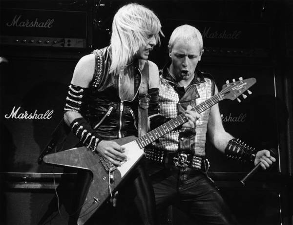 K.k. Downing Art Print featuring the photograph Photo Of Judas Priest And Rob Halford by Pete Cronin