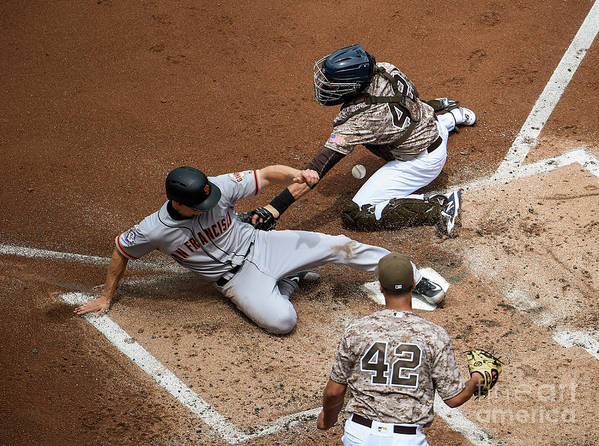 Second Inning Art Print featuring the photograph San Franciso Giants V San Diego Padres by Denis Poroy