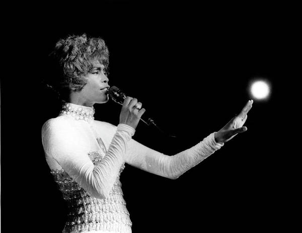Whitney Houston Art Print featuring the photograph Whitney Houston Live In Concert by Raymond Boyd