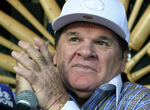 People Art Print featuring the photograph Pete Rose Speaks To Media After by Ethan Miller