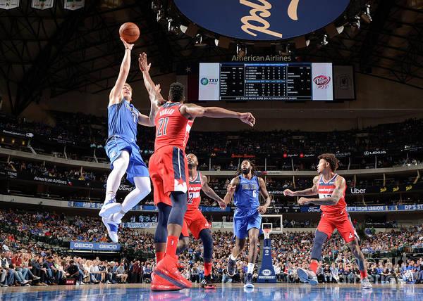 Nba Pro Basketball Art Print featuring the photograph Washington Wizards V Dallas Mavericks by Glenn James