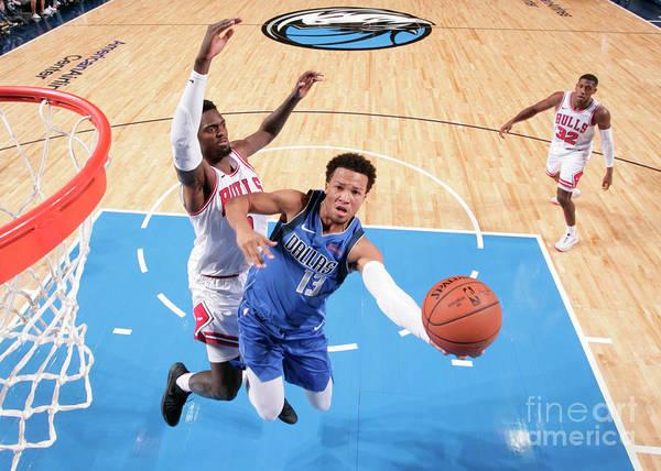 Nba Pro Basketball Art Print featuring the photograph Chicago Bulls V Dallas Mavericks by Glenn James