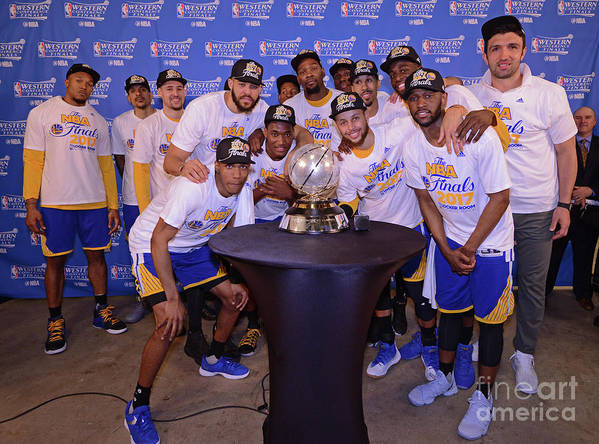 Playoffs Art Print featuring the photograph Golden State Warriors V San Antonio by Noah Graham