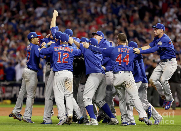 American League Baseball Art Print featuring the photograph World Series - Chicago Cubs V Cleveland by Elsa