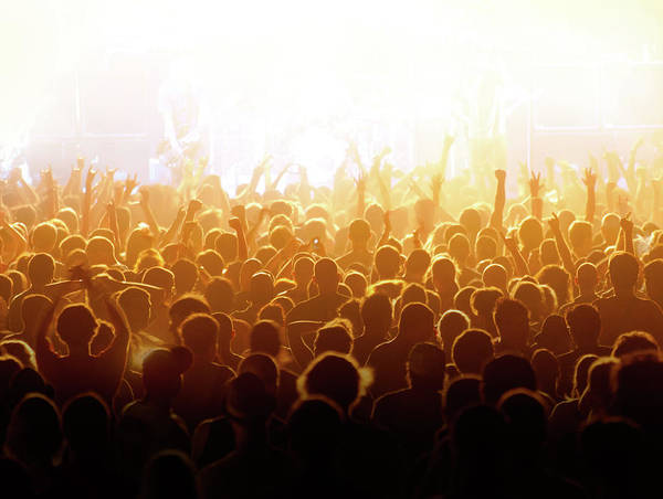 Rock Music Art Print featuring the photograph Concert Crowd by Alenpopov