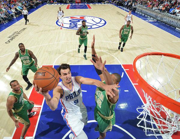 Nba Pro Basketball Art Print featuring the photograph Philadelphia 76ers V Boston Celtics by Jesse D. Garrabrant