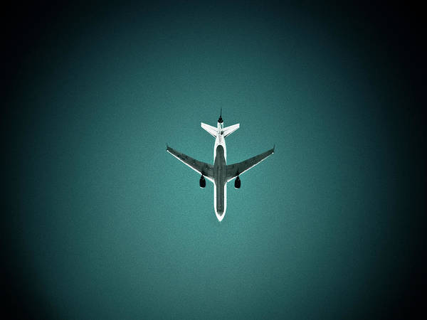 Outdoors Art Print featuring the photograph Airplane Silhouette by Miikka S Luotio