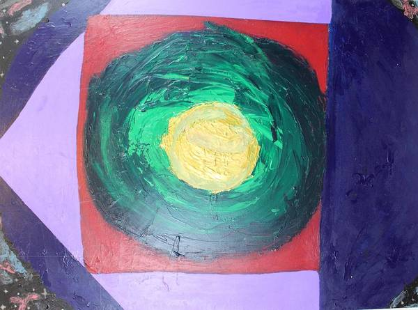 Abstract Art Print featuring the painting Alchemy of the Soul by Sonye Locksmith