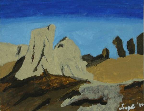 Landscape Art Print featuring the painting Algeria by Sonye Locksmith