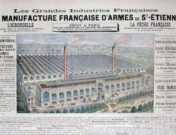 Loire Valley Art Print featuring the drawing Arms Manufacturing Industry, St by Print Collector