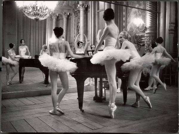 Ballet Dancer Art Print featuring the photograph Ballerinas At The Paris Opera Doing by Alfred Eisenstaedt