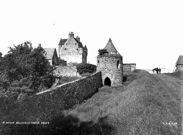 District Art Print featuring the photograph Ballygally Castle by London Stereoscopic Company