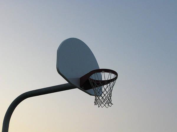 Clear Sky Art Print featuring the photograph Basketball Equipment by Nicholas Eveleigh