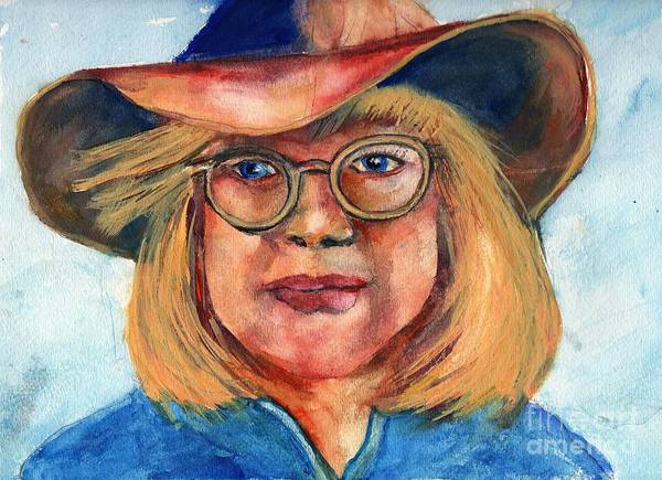 Cow Girl Art Print featuring the painting Blue Jean Lady by Randy Sprout