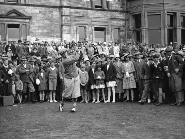 Crowd Art Print featuring the photograph Bobby Jones by Topical Press Agency