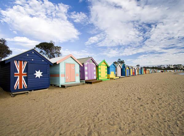 Steps Art Print featuring the photograph Brighton Beach Huts by Samvaltenbergs