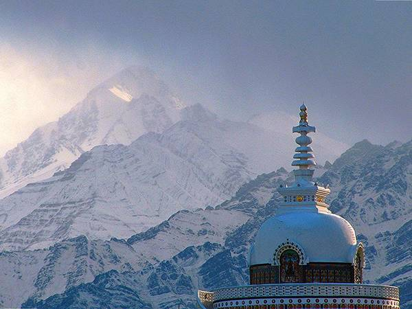 Tranquility Art Print featuring the photograph Buddhist Stupa In The Himalaya by Baxsyl