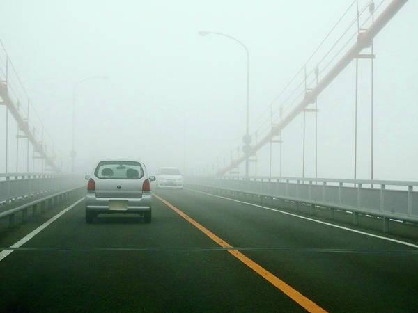 Dawn Art Print featuring the photograph Car Crossing Bridge by Kurosaki San