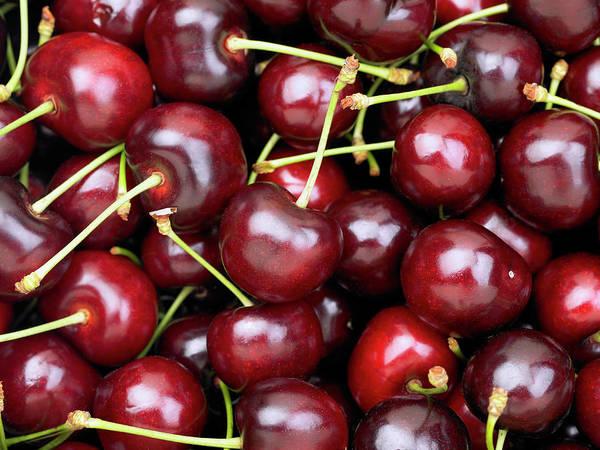 Cherry Art Print featuring the photograph Cherries by Maria Toutoudaki