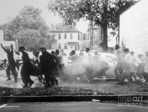 Hose Art Print featuring the photograph Civil Rights Demonstrators Getting by Bettmann