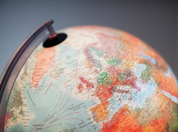 Globe Art Print featuring the photograph Close-up Of Globe by Kindler, Andreas
