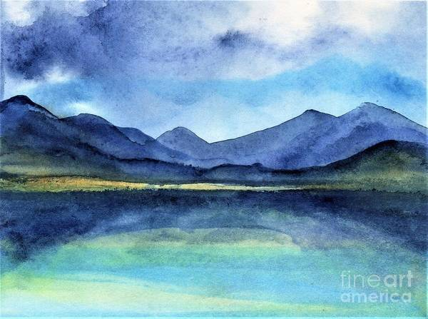 Ireland Art Print featuring the painting Coast of Ireland by Randy Sprout
