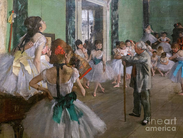 Dance Art Print featuring the painting Degas, The Dance Class Detail by Edgar Degas