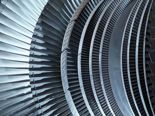 Manufacturing Equipment Art Print featuring the photograph Detail Of Turbine by Monty Rakusen