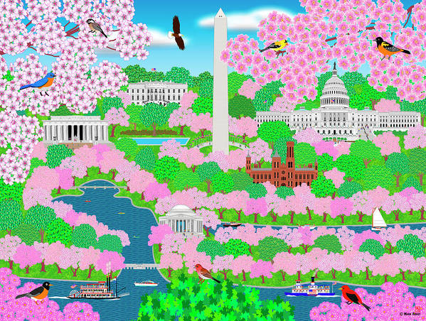Dream Of Washington Dc Art Print featuring the digital art Dream Of Washington Dc by Mark Frost