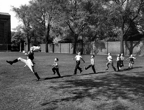 Marching Art Print featuring the photograph Drum Major Practice by Alfred Eisenstaedt