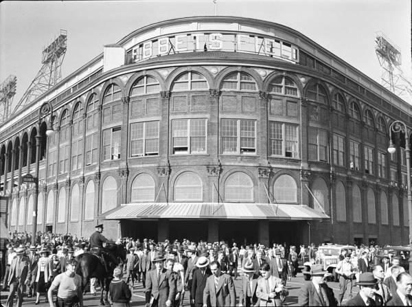 Following Art Print featuring the photograph Fans Leave Ebbets Field by David E. Scherman