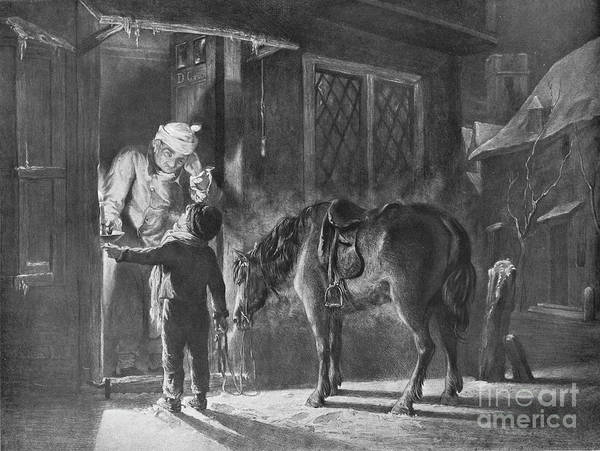 Horse Art Print featuring the drawing Fetching The Doctor by Print Collector