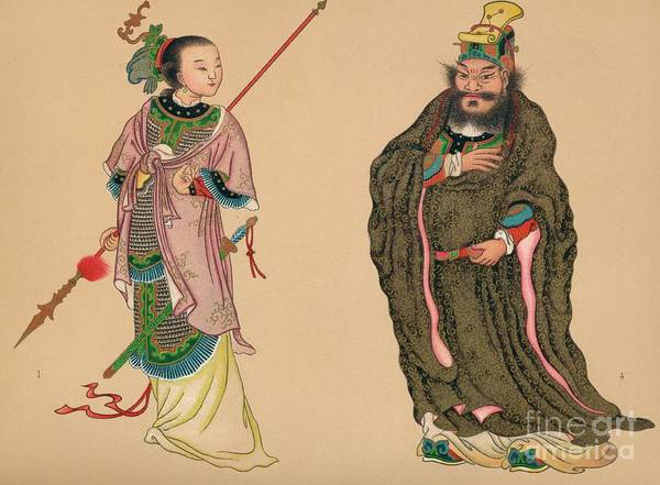 People Art Print featuring the drawing Heroes And Heroines Of Chinese History by Print Collector