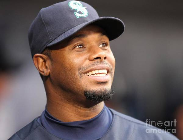 American League Baseball Art Print featuring the photograph Ken Griffey Jr. Retires From Seattle by Otto Greule Jr