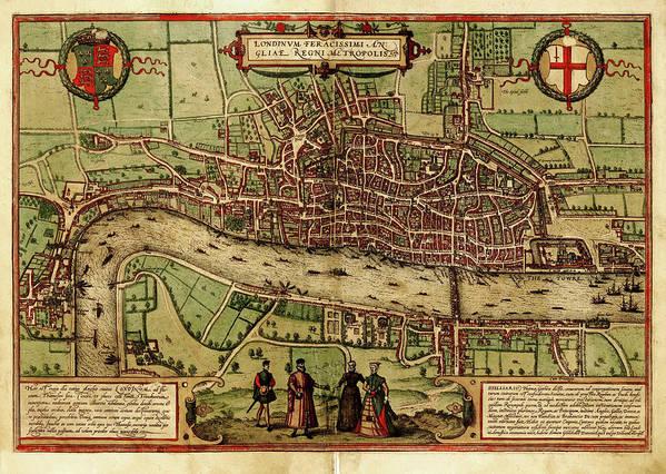 London Millennium Footbridge Art Print featuring the digital art London Antique View by Nicoolay