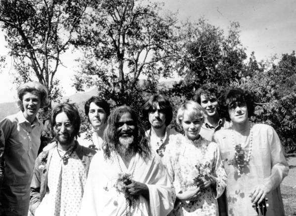 Following Art Print featuring the photograph Maharishi And Pop Stars by Keystone Features