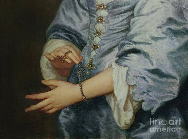 Rosary Art Print featuring the painting Marie Ruthven, Lady Van Dyck, Detail by Anthony Van Dyck