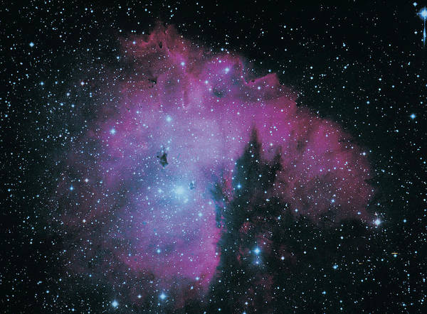 Purple Art Print featuring the photograph Nebula by Digital Vision.