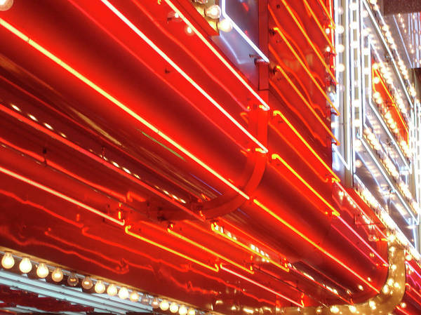 Downtown District Art Print featuring the photograph Neon Lights Downtown Las Vegas by Jill Tindall