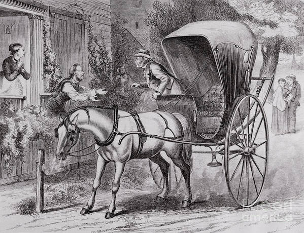 Art Art Print featuring the photograph New Country Doctor Arriving In Town by Bettmann
