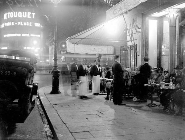 Paris Art Print featuring the photograph Paris Cafe by Fox Photos