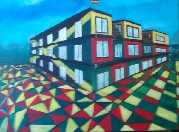 Rasta Art Art Print featuring the painting Rasta Academy by Andrew Johnson