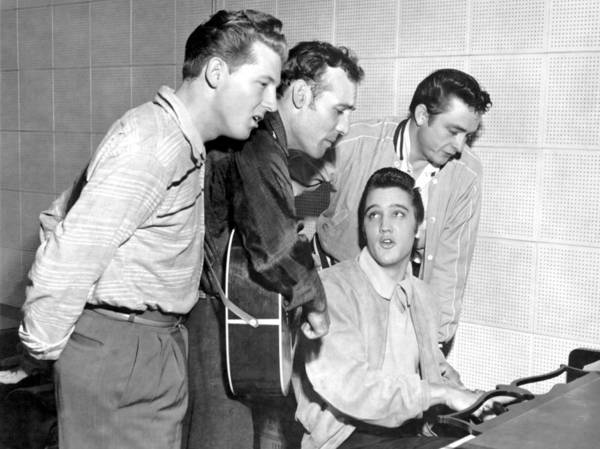 1950-1959 Art Print featuring the photograph Rock And Roll Musicians Jerry Lee by Michael Ochs Archives