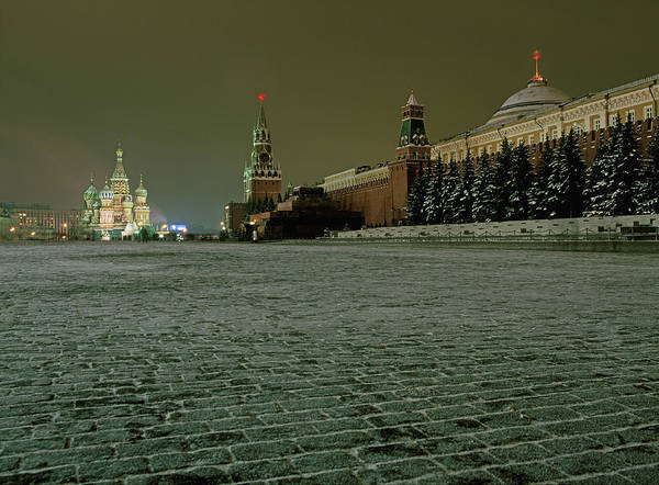 Outdoors Art Print featuring the photograph Russia, Moscow, Red Square And Kremlin by Hans Neleman