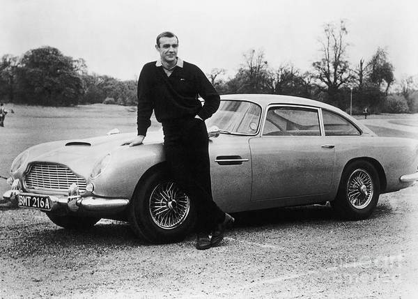 People Art Print featuring the photograph Sean Connery With 007s Aston Martin by Bettmann
