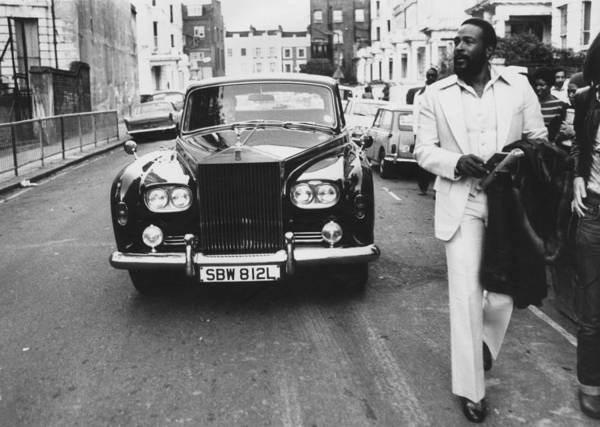 Rolls Royce Art Print featuring the photograph Strolling Soul Singer by John Minihan
