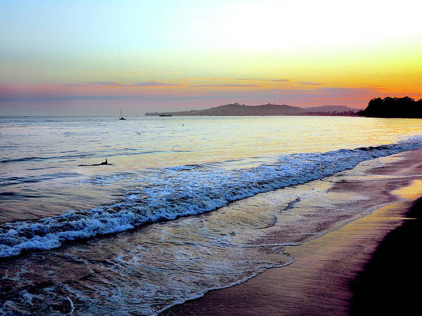 Tranquility Art Print featuring the photograph Sunset At Butterfly Beach, Santa by Geri Lavrov