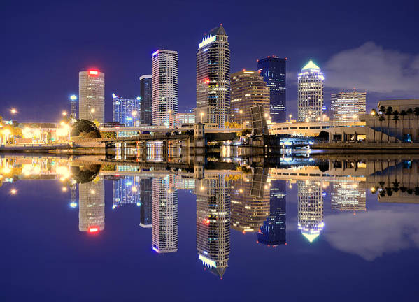 Downtown District Art Print featuring the photograph Tampa Bay Skyline by Sean Pavone